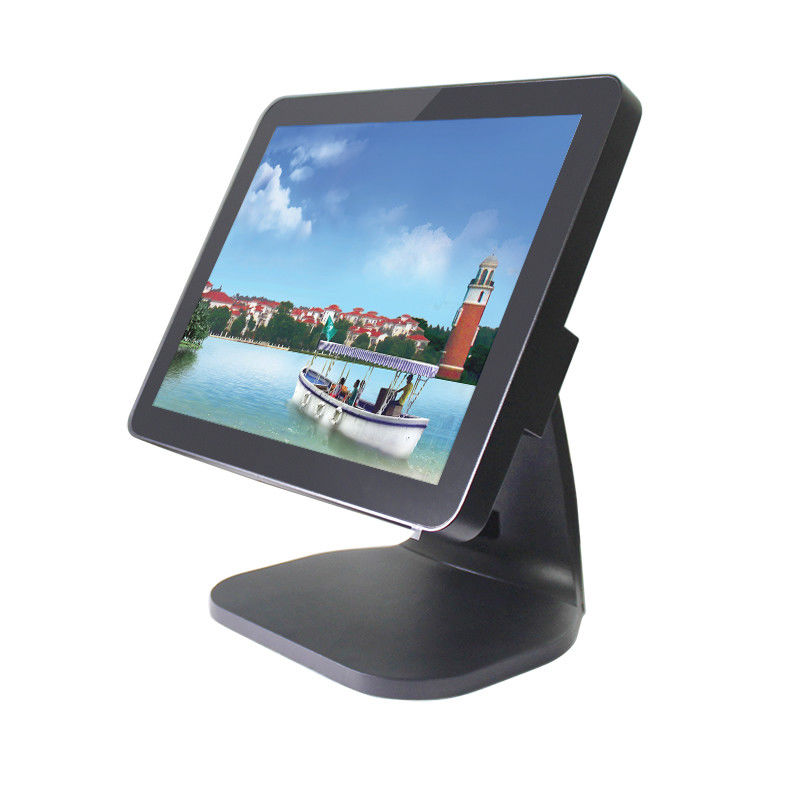 Flat Retail Point Of Sale Systems , Touch Screen Pos System USB * 6 With MSR
